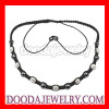 Fashion shamballa bead necklace with Czech Crystal and Hematite beads