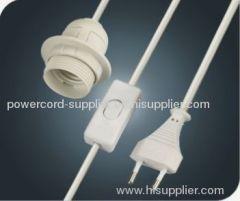 EU switch salt lamp power cord
