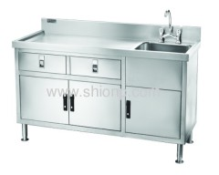 stainless steel single-basin washing desk(right-side style)