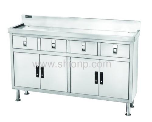 Stainless steel 4 doors working desk