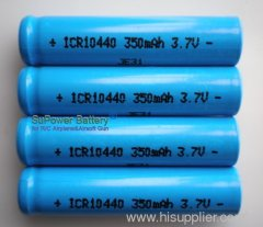 SuPower 3.7V 350mAh AAA/10440 Li-ion Rechargeable Battery Cell