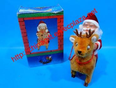 Christmas Santa Claus Decoration - Riding deer