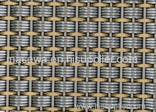 elevator sheet mesh brass woven elevator fabric