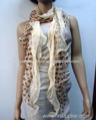 silk dot woven scarf