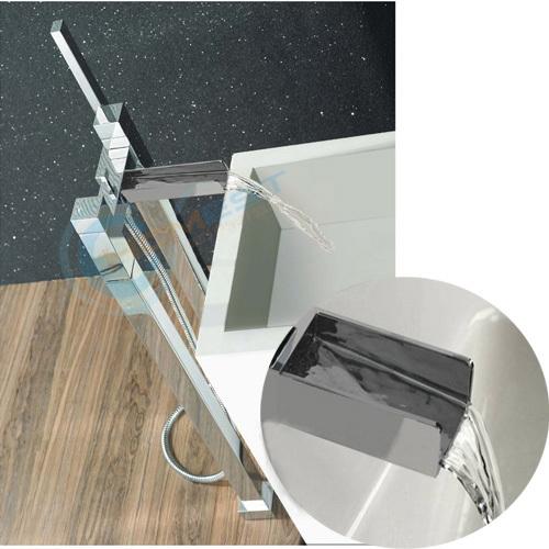 Floor standing waterfall bath shower mixer