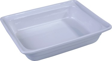half size porcelain food pan