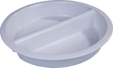 Round divided ceramic food insert