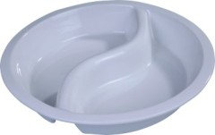 "round porcelain food pan ""S"" divided"