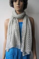 acrylic gray woven scarf