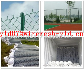 green coated chain link fences