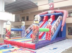 MU-495 spiderman inflatable slides casltes