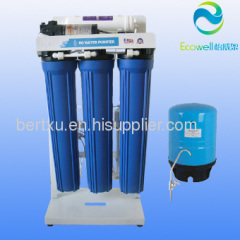 Big pure water flow! commercial water purification 200 gallon per day