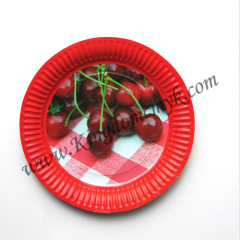 Red Paper Plates for Invitation