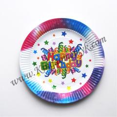 7 inch Happy Birthday Paper Plates