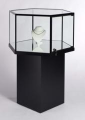 Hexagonal Free Standing Jewelry Showcase