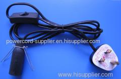 UK style salt lamp power cord