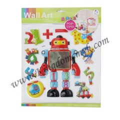 Robot and Number Stickers for Kids