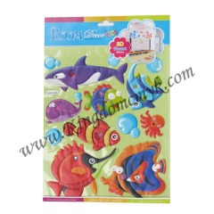 Puffy Fish Wall Stickers