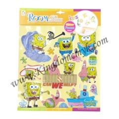 SpongeBob Figers Pictures Foam Stickers