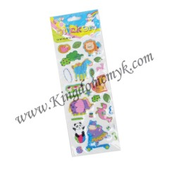 Small Size Wild Animal Puffy Stickers