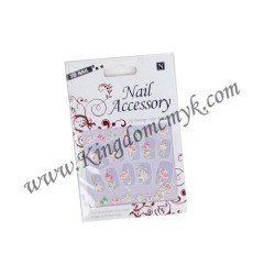 Pink Color Nail Stickers