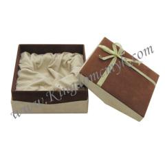 Ribbon Europe Style Flocking Gift Box