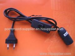euro type lamp power cord