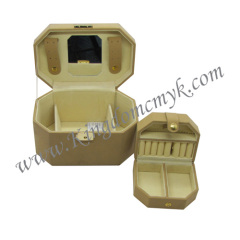 Artificial Leather Surface Make up Case