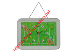 Football Court Signboard Wall Clock