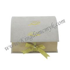 Book Shape Flocked Gift Packagings