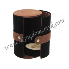 Round Flocking Box with Snap Butter