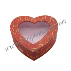 Heart Gift Packaging with PVC Window
