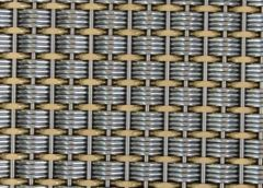 Elevator mesh fabric /ss & brass