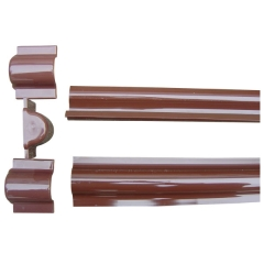 Plastic Brown Cable Riser Guard to protect cable wire