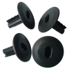 Black Dubal Plastic Cable Wall Bushing