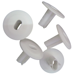 Cable Bushing in white for dual RG coaxial siamese cable