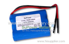 Lithium Li-Ion 18650 10..8V 11.1V 2200mAh Battery Pack L18650-2200 with PCB