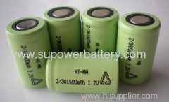 2/3A Rechargeable NIMH Power Battery Cell 1.2V 1600mAh