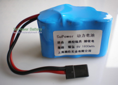 R/C Car NIMH Rechargeable Power battery Pack 6V 1600mAh