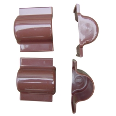 PVC Brown End Cup For Cable Wall Riser Guard 25mm