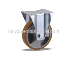fixed caster with pu wheel(aluminum core) 3 ribs FC100X40