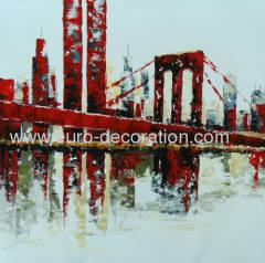 Handmade Oil Paintings Building