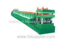 Speedway guard rail forming machine
