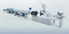 Plastic twin-tube production line