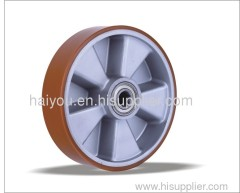 pu wheel with aluminum center