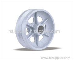 V groove wheels cast iron