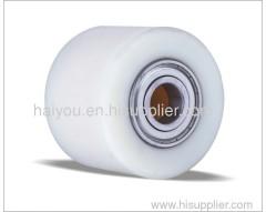 Pallet truck nylon roller