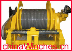 lebus grooved geometry drum winch electric spooling device winch