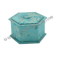 Blue Flower Hexagonal Gift Box