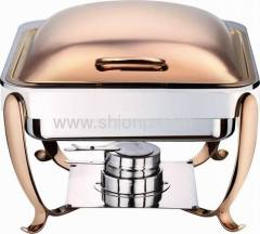 Half size induction chafer with copper plated